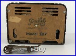 Vintage 1950s Pathe Art Deco Catalin Design Tube Radio Model 207 For Parts