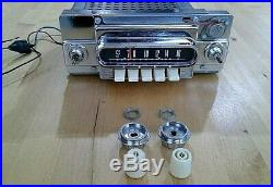 Vintage 1962 Ford Falcon Oem Am Radio Ivory Knobs Push Button Preset Stations
