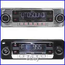 Vintage 60 S Look Am Fm Car Stereo Radio Ipod Usb Cd Bluetooth