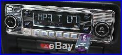 Vintage 70's AM FM Car Stereo Radio Shaft and Knob Look iPOD & USB CD BLUETOOTH