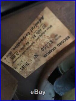 Vintage Admiral Radio Phonograph Record Player Model 6S12N Art Deco Parts Repair
