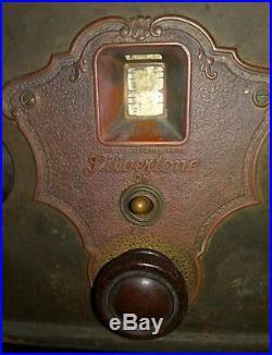 Vintage/Antique Metal SilverTone Tube Radio(Parts/Collect)