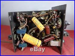 Vintage Antique Unknown Vacuum Tube Radio 6-Band Tuner Turns On Parts/Repair