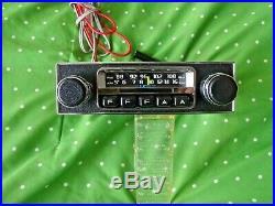 Vintage Audiovox AM/FM radio chrome MG MGB Alfa Romeo Austin BMW used xlnt