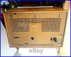 Vintage BRAUN TS2 Radio Made In West Germany Doesn't Work For Parts Or Repair