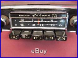 Vintage Becker Europa TR Radio Push Button AM/FM Freshly Serviced