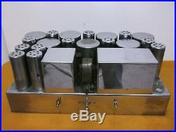 Vintage Chrome Tube Amplifier E. H. Scott Radio Labs L-351 As Is For Parts Repair