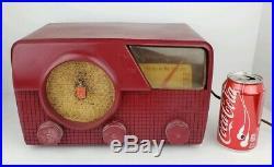 Vintage Crosley Model E-30 MN Red Plastic Art Deco AM FM Tube Radio Parts Repair