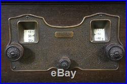 Vintage Fada Tube Radio Wood Cabinet antique old Estate Find for parts / repair