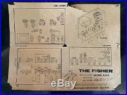 Vintage Fisher President VIII 8000 Console Radio Speakers Set Parts