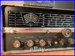 Vintage Hallicrafters SX 110 Ham Radio Receiver Parts Restore Untested
