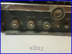 Vintage Hallicrafters SX-110 Ham Radio Receiver Powers On untested parts repair