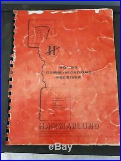 Vintage Hammarlund HQ-150 Shortwave Radio Receiver Powers Up Parts Or Repair