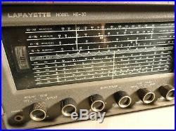 Vintage Lafayette HE 30 Shortwave Ham Radio Receiver Amateur PARTS OR REPAIR