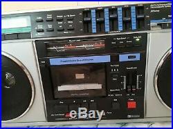 Vintage Large Boombox Ghetto Blaster Radio JC Penny Model 681-3925 parts/repair