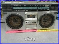 Vintage Lasonic TRC-918 Boombox Ghettoblaster for parts ONLY