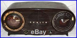 Vintage Parts Or Repair 1954 Zenith L515 Antique Art Deco Clock Radio 116