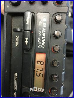 Vintage Porsche 911 Blaupunkt New York SQR 83 Radio & BQB 80 AMP