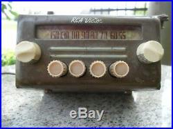 Vintage RCA Victor Tube Car Auto Radio Rat Rod For Parts Or Restore Antique