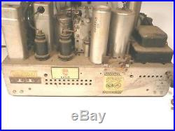 Vintage RCA model 9K3 part UNTESTED CHASSIS with 9 TUBES & GOOD GRAPHIC PIECES