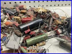 Vintage Resistor Capacitor Ham Radio Maker Builder PARTS LOT Cool Amp CREATOR