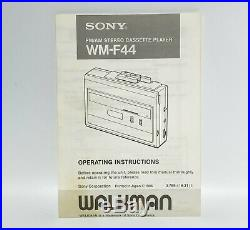 Vintage SONY Walkman WM-F44 For Parts Radio Only 1986 Made in Japan