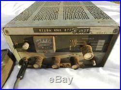 Vintage Sonar CB Radio Model G Receiver & Microphone Estate Find Parts/Repair