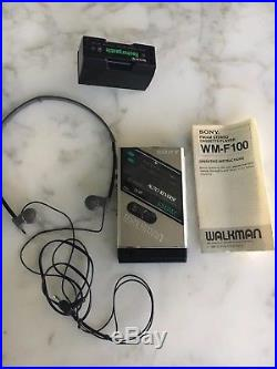Vintage Sony Walkman WM-F100 Personal Cassette Player, For Parts / Repair