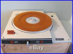 Vintage Sparta Radio Station Broadcast Turntable for Parts /Repair/ Restoration