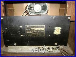 Vintage Sparton Viso Glo Radio Model 6148 (1946) Tested. For Parts