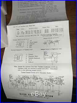 Vintage Transistor Radio Repair Parts Kit Olson KN-112 NOS