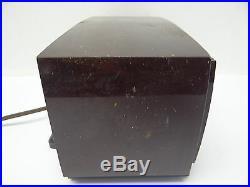 Vintage Used General Electric GE Brown Case Clock Tube Radio Parts Old