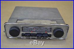 Vintage VW Blaupunkt Emden 3 Bus Radio 12 volt with VW knobs