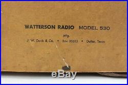 Vintage Watterson Tube Radio Model #530 JW Davis Parts or Repair 35313