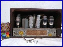 Vintage Westinghouse Table Top Tube Radio WR209 SN 633866 for Parts Display