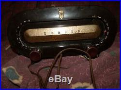 Vintage Zenith Consol-Tone art deco Tube Radio for parts/restoration Worldwide