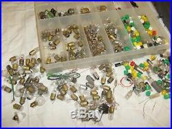 Vintage large lamp bulb radio lot parts from CB Ham Radio shop Mazda GE Wheat
