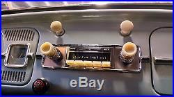 Vintage look Stereo Radio AM FM AUX USB iPod MP3 VW Bug Beetle 58-67 ivory knobs