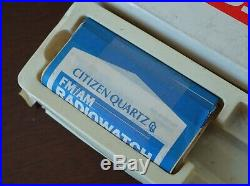 Vintage mens Citizen AM/FM Radio D031-086884Y radiowatch for parts no return