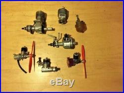 Vintage model airplane engine radio control plane engines control line parts lot