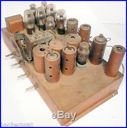 Vintage1933 SILVERTONE 6 LEG /12 TUBE RADIO part WORKING RCA-GE-WEST. CHASSIS