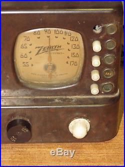 ZENITH tube radio 5R312 1930's Art Deco for parts/repair